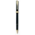 Magellano black fountain pen with gold plated trims