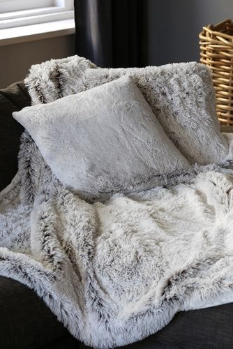 Cosy Blanket white/grey