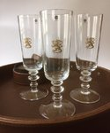 Finnish Lion champagne glasses 4 pcs